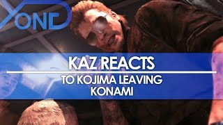 Kaz Reacts to Kojima Leaving and Konami Taking Over Metal Gear