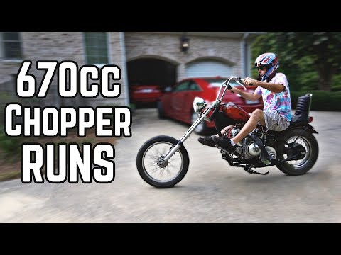 It Runs! 670cc Chopper Build Pt. 3