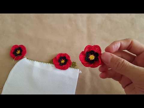 Gelincik Çiçeği Oya Modeli Yapımı