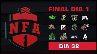 FREE FIRE AO VIVO - FINAL DIA 1 - LIGA NFA SEASON 4 - #NFAS4