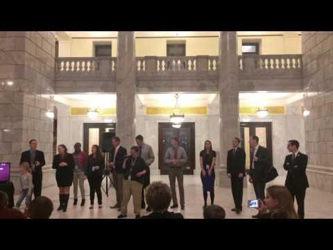 Capitol Karaoke with Matt Hillyard and interns