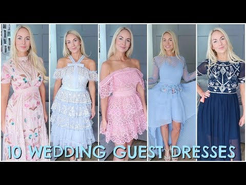 10-wedding-guest-dresses-2018- -wedding-guest-outfit-ideas-/-haul-&-try-on