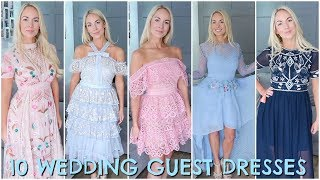 10 WEDDING GUEST DRESSES 2018  |  WEDDING GUEST OUTFIT IDEAS / HAUL & TRY ON