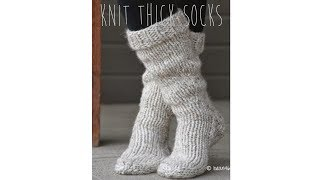 KNITTING TUTORIAL - FAST & EASY THICK SOCKS