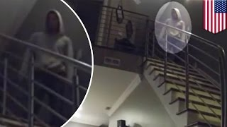 Creepy burglar watches couple sleep for about 10 minutes total after breaking in - TomoNews