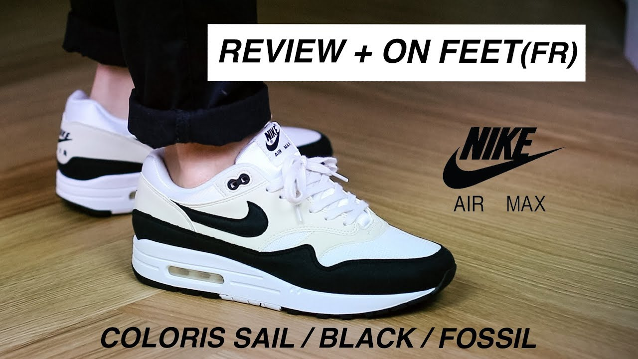 low priced 4bb7a 9ce13 AIR MAX 1 Review Sail Black Fossil + On feet FR