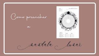 Mandala Lunar - como preencher?