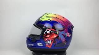 arai corsair x russell 2 helmet 360 view
