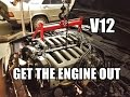 Mercedes 190 V12 Project build Engine removed from the W140 JMSpeedshop !