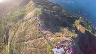 Hiking Diamond Head / Waikiki in 4k - DJI Phantom 2 GoPro Hero 4