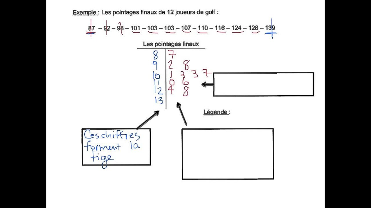 Diagramme  U00e0 Tige Et  U00e0 Feuilles