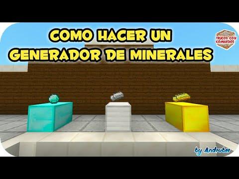 COMO HACER UN GENERADOR DE MINERALES | EN MINECRAFT 1.2 | TRUCO CON COMANDOS | TUTORIAL PARA MAPAS