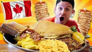 THE BIGGEST BREAKFAST IN CANADA! (MAN VS. FOOD)