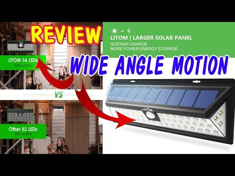 LITOM 54 LED Super Solar Lights Outdoor review 2019