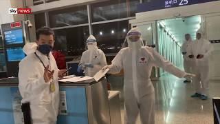 Coronavirus: Sky News crew enters quarantine in China