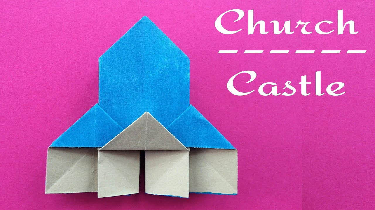 Origami Paper Church Castle Very Easy To Make Youtube