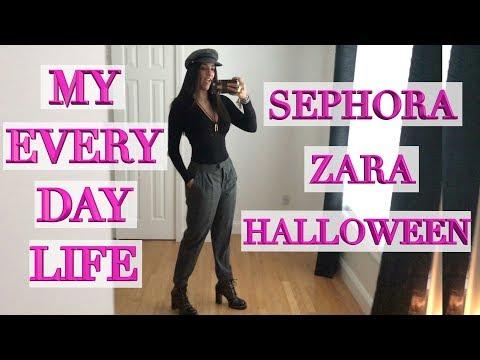 What My Daily Life is Like - Zara Shopping, Sephora, Halloween Horror!