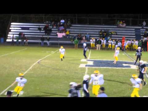 Grant 55 Yard Touchdown run - North Wilkes Middle School 10-18-2014
