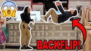 FLIPPING IN FRONT OF WALMART EMPLOYEES!