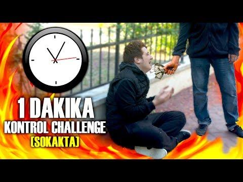 İNSANLARDAN PARA DİLENDİM ! - 1 DAKIKA KONTROL CHALLENGE ! (Sokakta)