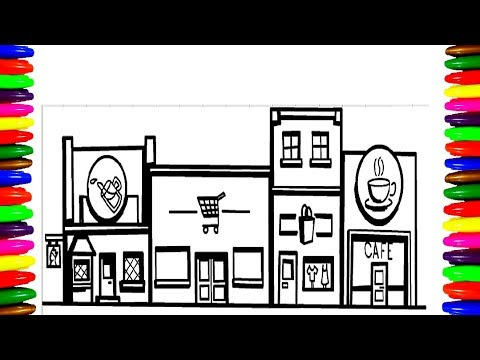 Shopping Center Mall Coloring Pages Boys And Girls Kids Children