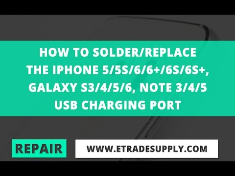 How To Solder/Replace A Galaxy Or iPhone Charging Port