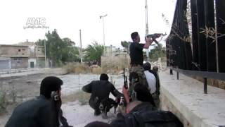 Syria Aleppo violent clashes between FSA & Army 20 6 2013