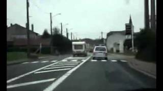 NEW chase car an caravan accident in France!!ДТП авари