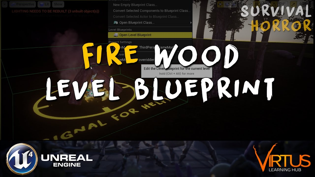 Wood fire blueprint script 32 creating a survival horror unreal wood fire blueprint script 32 creating a survival horror unreal engine 4 malvernweather Choice Image