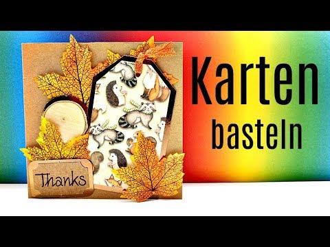 BASTELIDEEN für den Herbst | Basteln mit Papier | Karten basteln | Bastelanleitung | 9999 Dinge