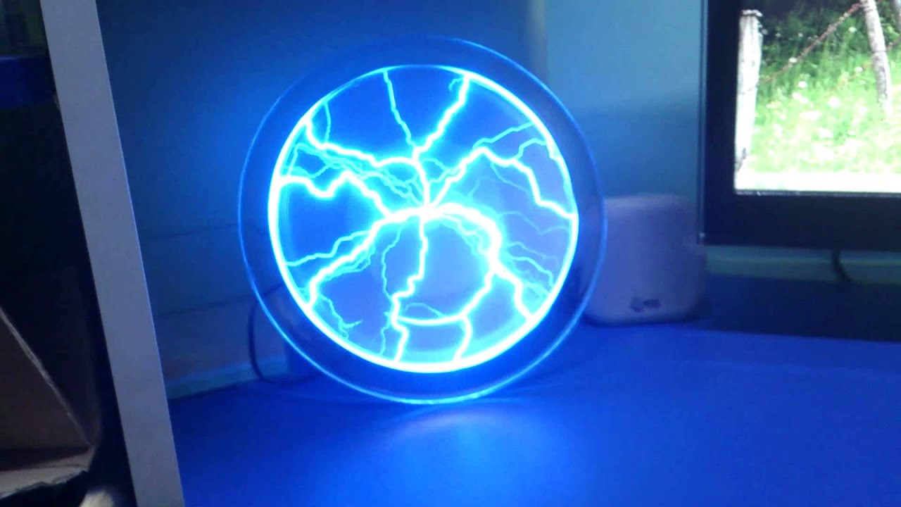 Awesome 9 Inch Plate Panels (sound On) Dish Blue Plasma Lightning Lamp Light  Holiday Party Disco Club