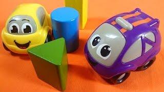 Spielzeugautos lernen die Farben. Spielsachen für Kinder