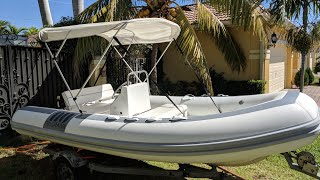 """How to Clean a Dinghy Novurania 14.1"""" (Part 1)"""