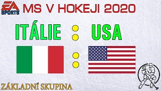 HOKEJ MS 2020 | Itálie - USA |