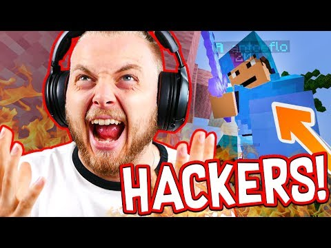 KILLED BY TWO HACKERS in BEDWARS!! - Minecraft Mini Game