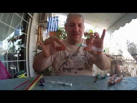 ψάρεμα κατασκευή σημαντήρα εγγλέζικου από σύριγγες fishing diy inglese float from syringes