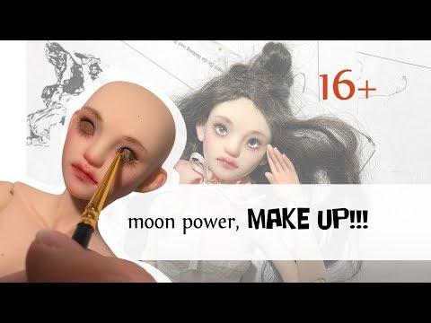BJD DOLL face up! Роспись авторской шарнирной куклы.