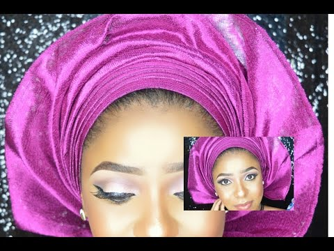 Step By Step How To Tie A Simple Gele. Beginners Friendly/ Beauty Hauljj