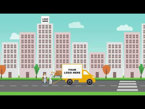 Company Moving Truck Animation - After Effects Project 🚚