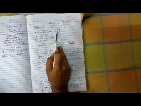 10th Class English LETTER WRITING  IN FORMAL LETTER