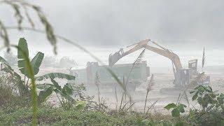 Hà Giang: Ngang nhiên khai thác cát trái phép trên sông Lô
