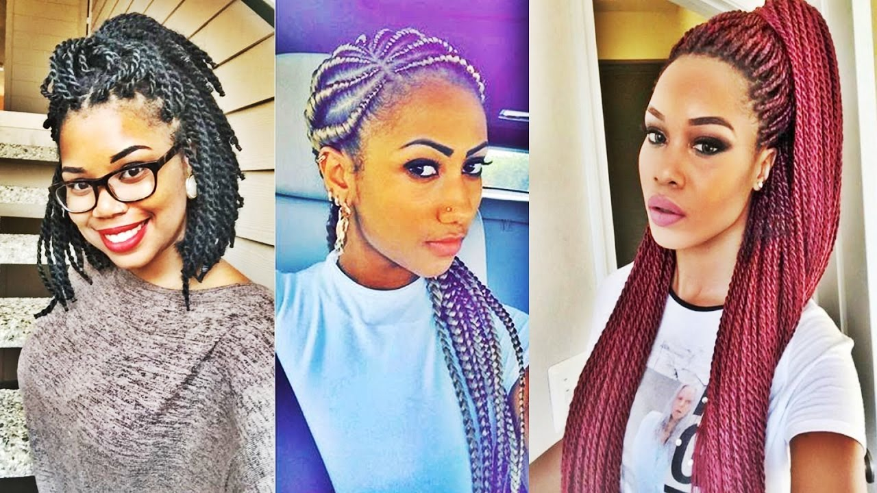 Super Hot Black Braided Hairstyles For Black Women 2017 YouTube