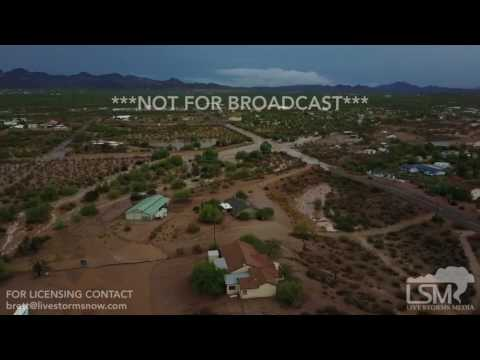 07-24-2017 Apache Junction, AZ - Dangerous Flash Flooding Aerial & Ground Footage