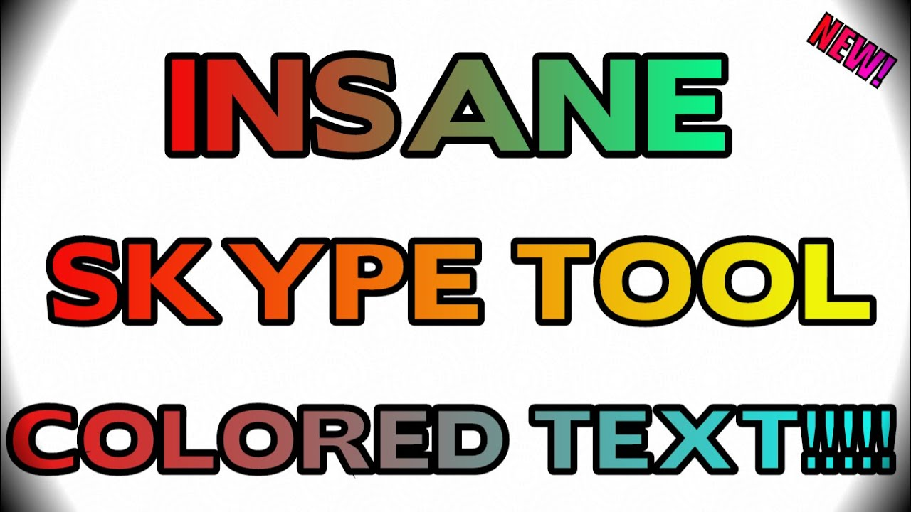 how to send colored text in skype