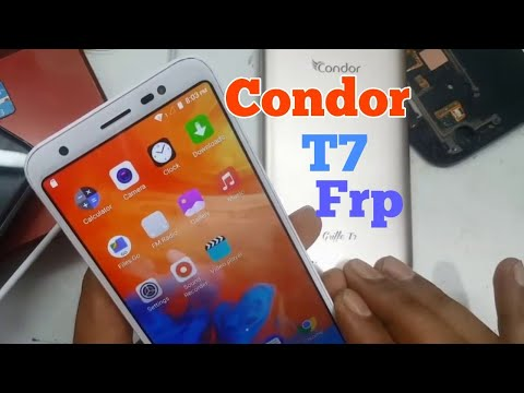 Condor Mobile T7  Google Frp Bypass Remove No PC.2019
