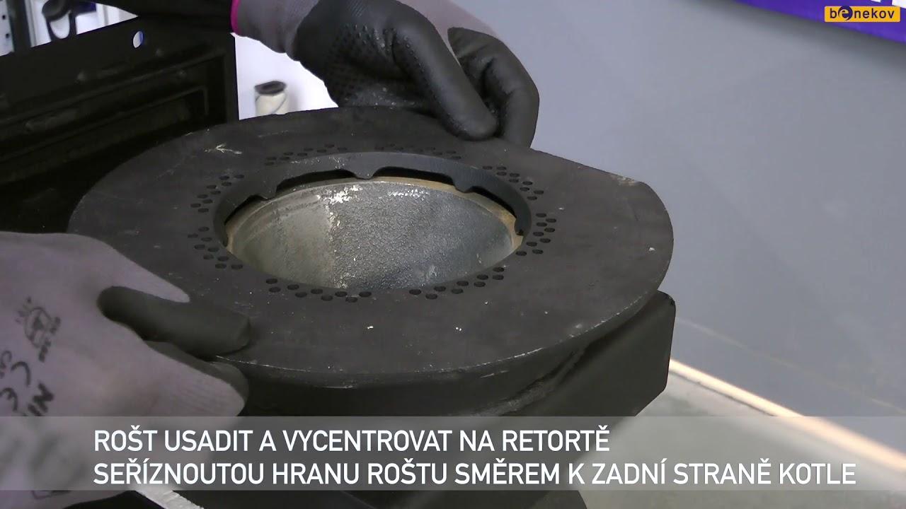 Video opravy a údržba kotlů Benekov