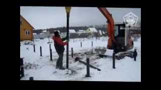 Установка винтовых свай на видео от Завода Свай