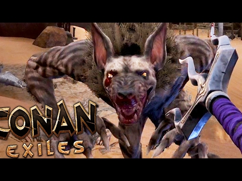 Conan Exiles - WEREWOLVES?! RARE BLACK RHINO HUNTING - #4 (Conan Exiles Gameplay)