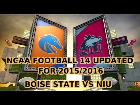 NCAA Football 14 Updated For 2015 2016 BOISE STATE VS NORTHERN ILLINOIS