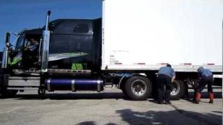 How NOT to hook a semi trailer